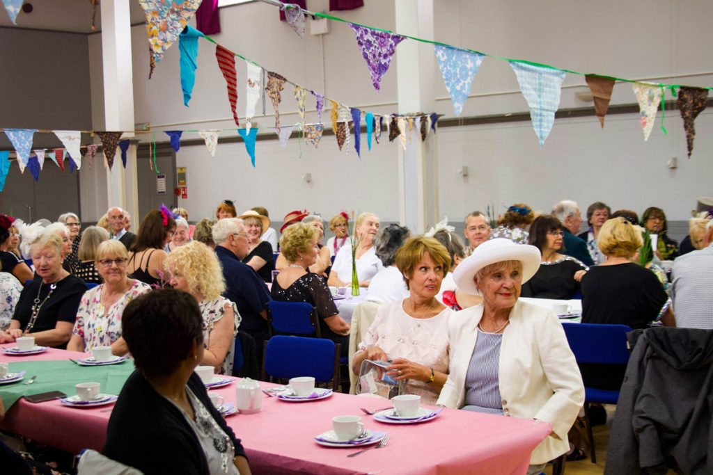 People celebrating the Royal Wedding during Dementia Action Week